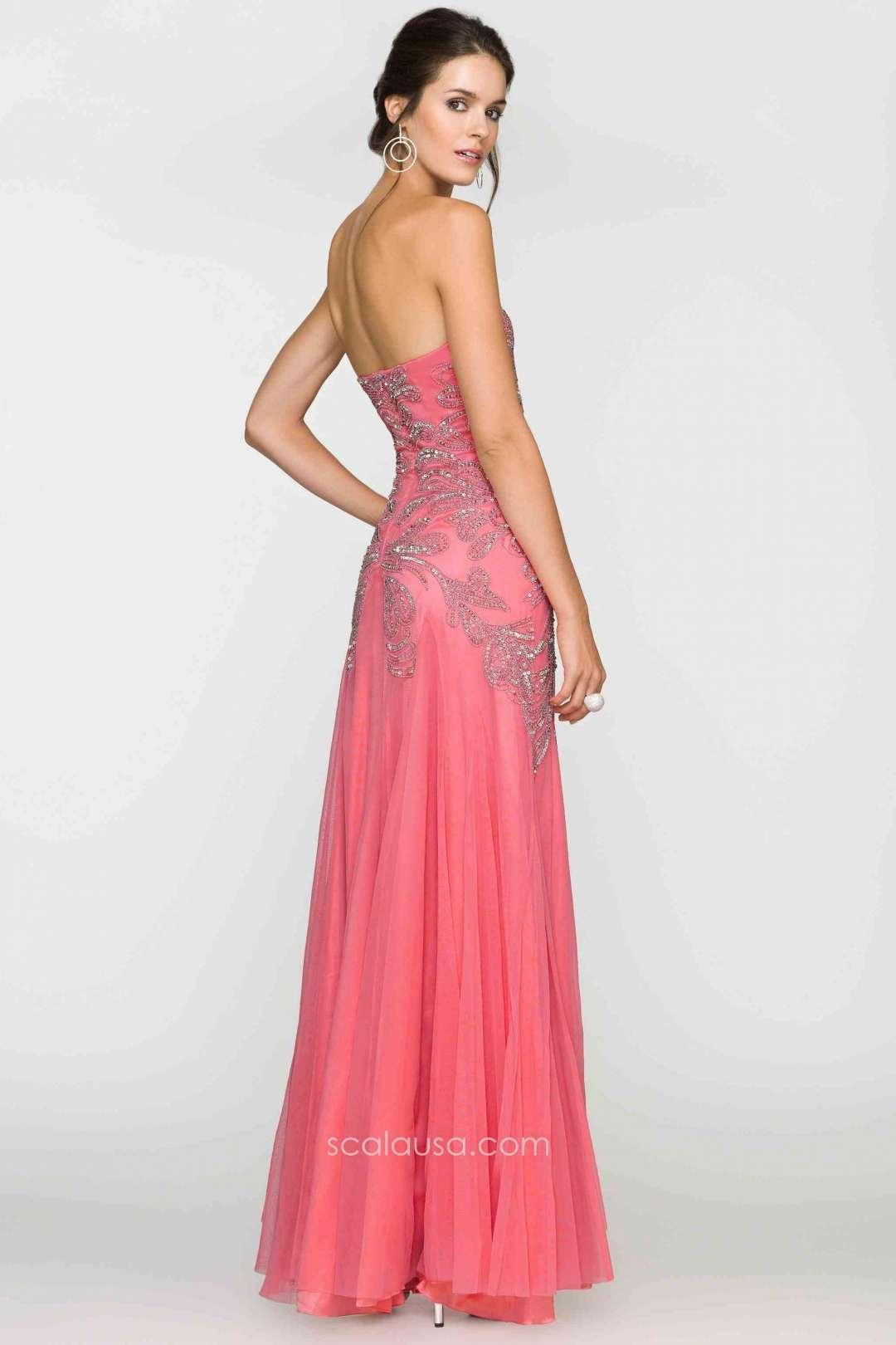 Magnífico Vestido De Cóctel Scala Modelo - Colección de Vestidos de ...