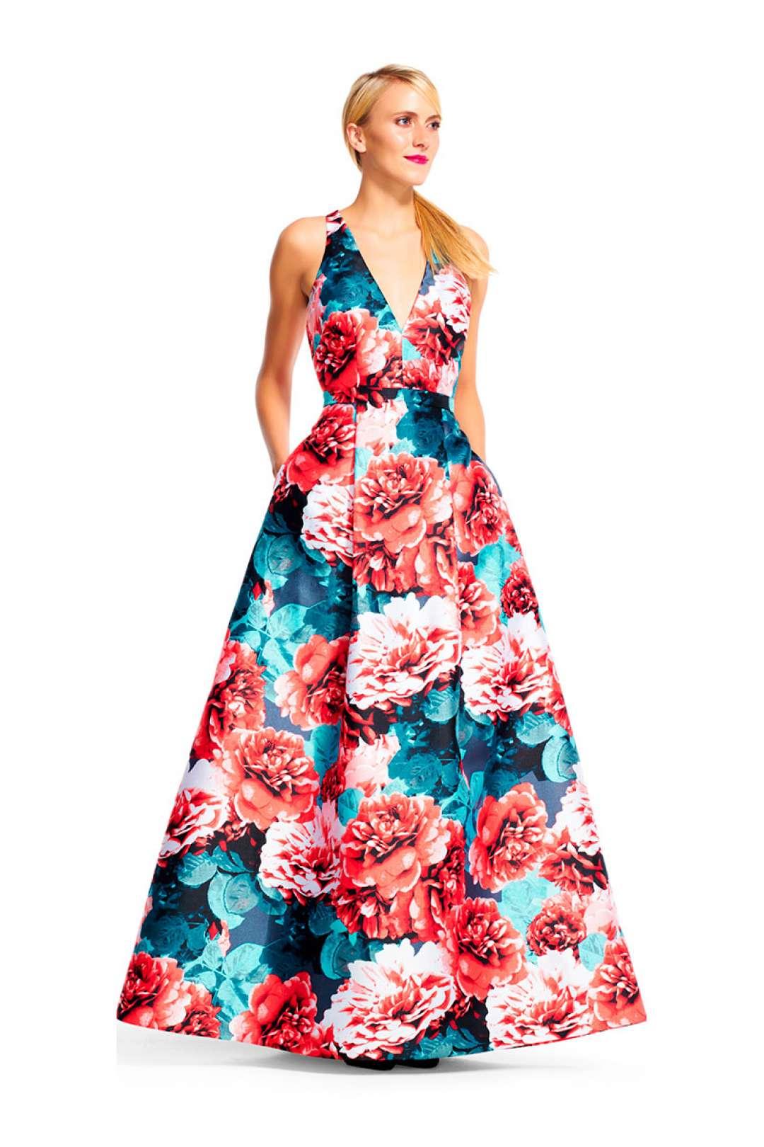 Vestidos floreados largos para fiesta