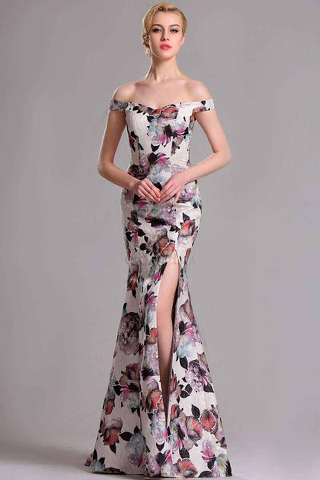 Vestidos corte sirena floreados