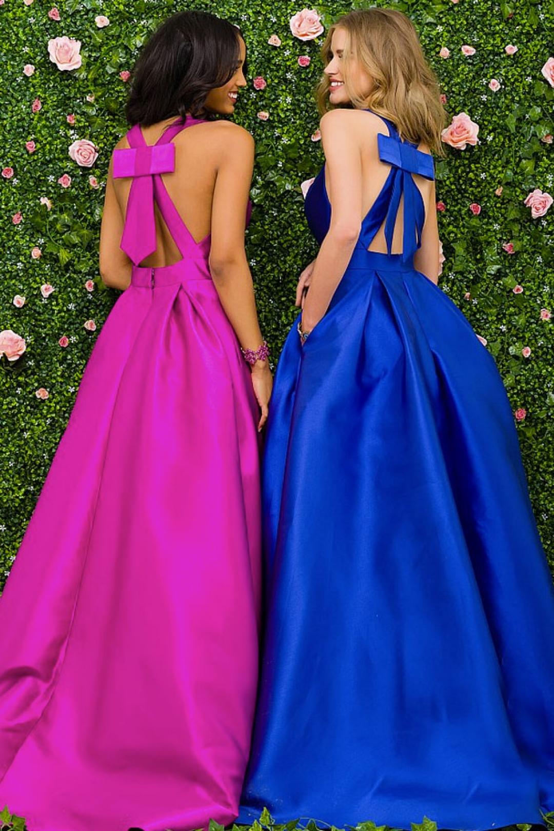 Magnífico Vestidos De Fiesta Azul Jovani Friso - Colección de ...