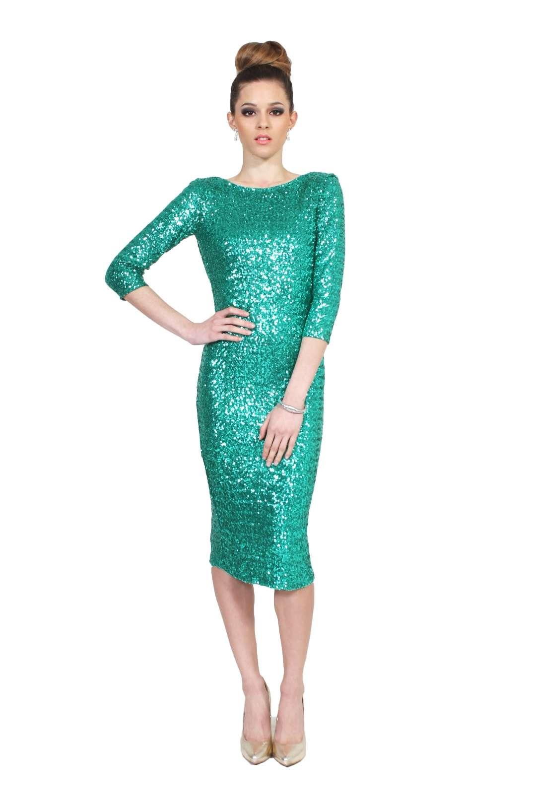 Vestidos en verde turquesa