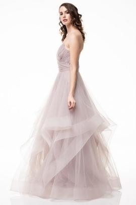 0de51f56d ... Los Vestido de noche en color malva sin mangas y un hermoso cuello en  V