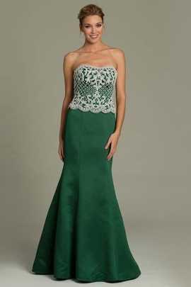 Accesorios para vestido verde strapless