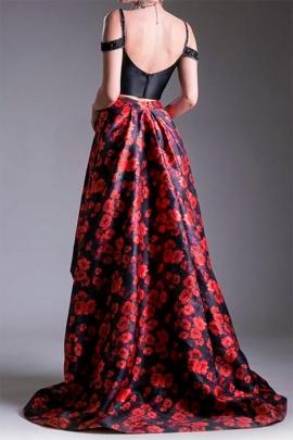 Vestidos floreados largos y cortos