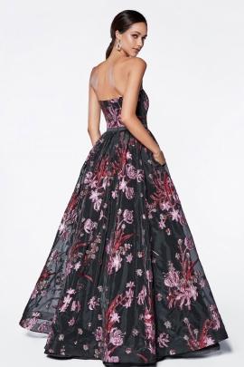 c71aa9bad ... Deslumbrate con este bellisimo vestido de noche con su jardin floral en  estampado de todo el